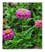 A Sea Of Zinnias 09 Fleece Blanket