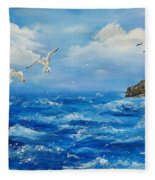 A Seagull's View George's Head Kilkee Co. Clare Fleece Blanket