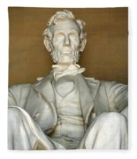 A Seated Abe Lincoln Fleece Blanket