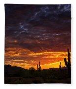 A Sentinel Sunset  Fleece Blanket
