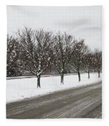 A Sequence Of Trees Fleece Blanket