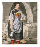 A Serving Girl At An Inn Fleece Blanket