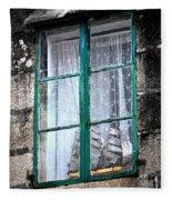 A Ship In The Green Window Fleece Blanket