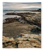 A Shot Of An Early Morning Aquidneck Island Newport Ri Fleece Blanket