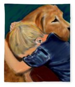 A Shoulder To Cry On Fleece Blanket