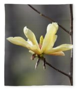 A Single Bloom Fleece Blanket