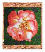A Single Rose The Dancing Swirl  Fleece Blanket