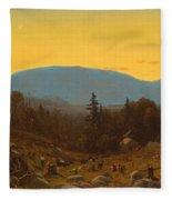 A Sketch Of Hunter Mountain. Catskills. Twilight On Hunter Mountain Fleece Blanket
