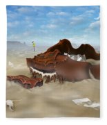 A Slow Death In Piano Valley Fleece Blanket