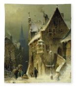 A Small Town In The Rhine Fleece Blanket