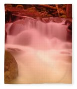 A Small Waterfall Along The Old North Cascade Highway  Fleece Blanket