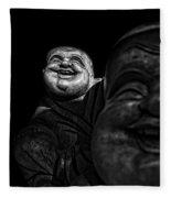 A Smile On The Shoulder - Bw Fleece Blanket