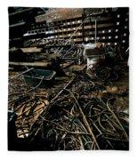 A Snake Pit Of Wires Fleece Blanket