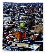 A Snowy City...buffalo Ny 2013 Fleece Blanket