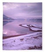 A Snowy Shore Fleece Blanket