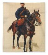 A Soldier Cavalerie Fleece Blanket