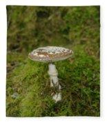 A Sole Mushroom Fleece Blanket