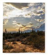 A Sonoran Desert Sunset  Fleece Blanket