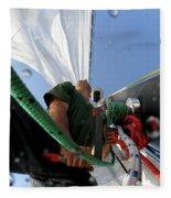 A Spanish Racing Yacht Trains Fleece Blanket