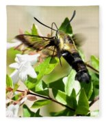 A Sphinx's Pollination Fleece Blanket