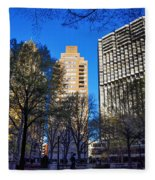 A Spring Day At Rittenhouse Square Fleece Blanket