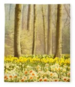 A Spring Day Fleece Blanket
