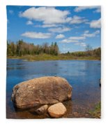 A Spring Day Under The Green Bridge Fleece Blanket