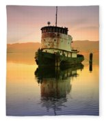 A Spring Evening At The Lake Fleece Blanket