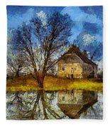 A Spring Flood Fleece Blanket