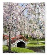 A Spring Walk Fleece Blanket