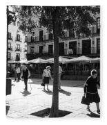 A Square In Toledo - Spain Fleece Blanket