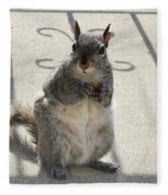 A Squirrel Known As Chippy Fleece Blanket