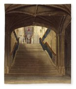 A Staircase, Windsor Castle, From Royal Fleece Blanket