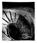 A Stairwell In The Catacombs Of Paris France Fleece Blanket