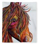 A Stick Horse Named Amber Fleece Blanket