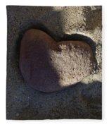 A Stone Heart Fleece Blanket