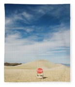 A Stop Sign In The Middle Of Nowhere Fleece Blanket
