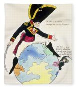 A Stoppage To A Stride Over The Globe, 1803 Litho Fleece Blanket