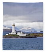 A Storm And The Lighthouse Fleece Blanket