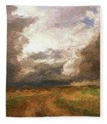 A Stormy Day Fleece Blanket