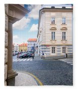 A Street In Prague Fleece Blanket