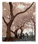 A Stroll In Central Park Fleece Blanket