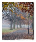 A Stroll In Salem Fog Fleece Blanket