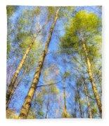 A Summer Forest Fleece Blanket