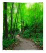 A Summer Trail Fleece Blanket