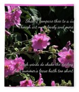 A Summer's Day Pink Romance Fleece Blanket