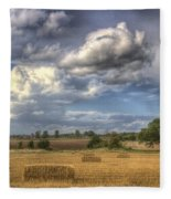 A Summers Evening Farm Fleece Blanket