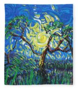 A Sunny Day For The Tree Fleece Blanket