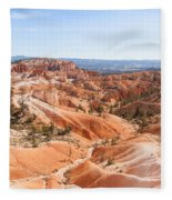 A Sweeping Vista At Bryce Canyon  Fleece Blanket