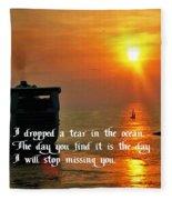 A Tear In The Ocean Fleece Blanket